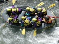 Descent in rubber boat
