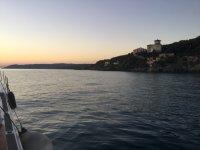 In mare al tramonto