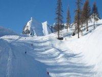 Prepared ski slopes