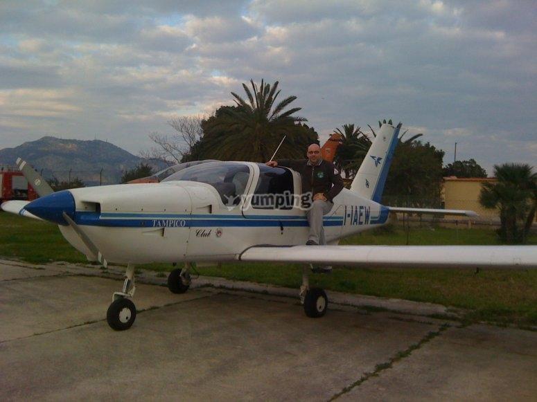 Volo in ultraleggero a Palermo