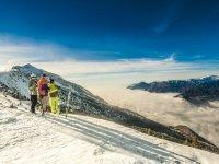 Sciatori sul Monte Baldo