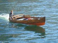 Wooden boat rental
