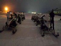 Motoslitte di notte