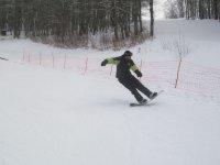 Surfa sulla neve!