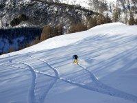 Lasciando marca sulla neve