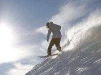 cavalcando la neve