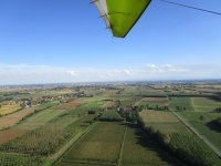 The panorama from the hang glider