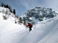 Freeride among the slopes