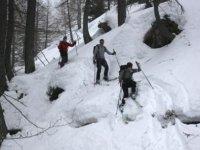 Descent along a gully