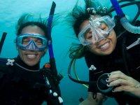 Un selfie subacqueo