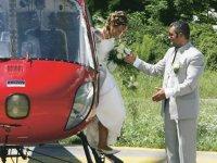 Un volo per gli sposi