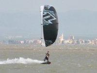 In mare con il kite