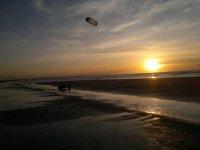 Kite al tramonto