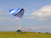 Two-seat paragliding flight