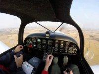 In volo con l'istruttore