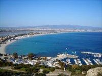 Poetto waterfront in Cagliari