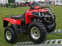 Quad rosso fiammante