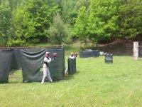 GIocatori di Paintball in azione