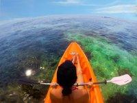 il kayak e i meravigliosi fondali