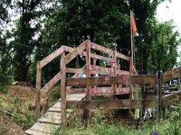 Ponte in mezzo del campo di Paintball Parma