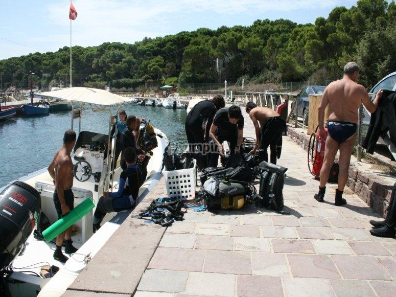 Preparing equipment