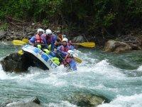 Discesa tecnica rafting