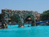 Muro in piscina