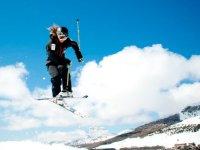 Acrobatic ski in the Snow Park