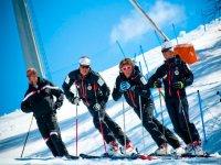 Some ski instructors