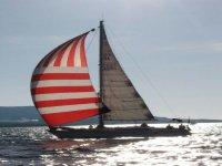 In mare con skipper e marinaio