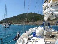 In barca con lo skipper