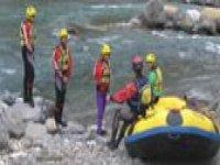Discese di gruppo in rafting