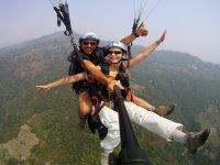 Volando sopra Pokhara