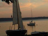 A vela sul lago