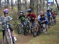 Kids cycling in Trentino