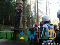 Briefing at the adventure park.