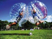 Bubble football.