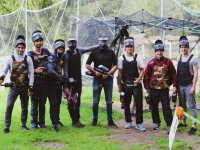 Paintball group.