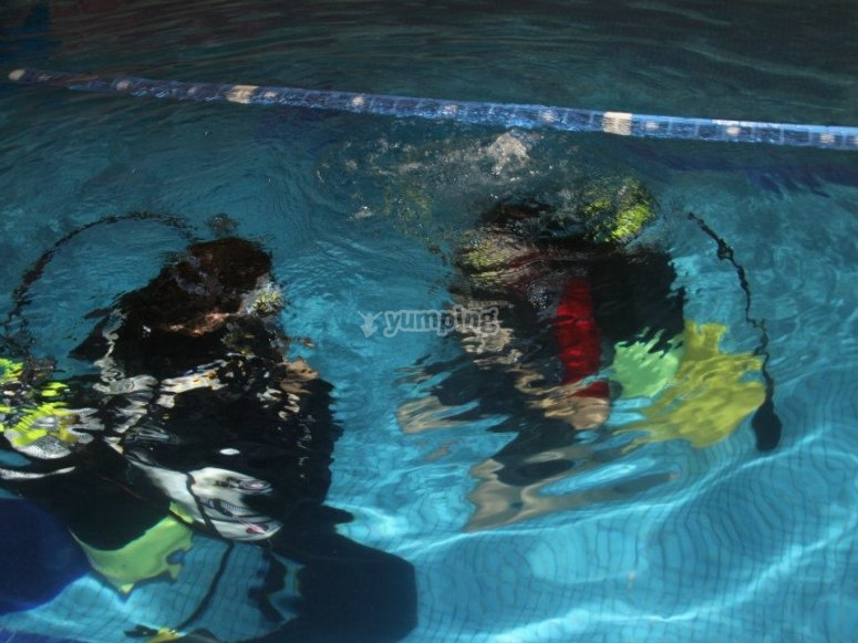 Exercises in the swimming pool