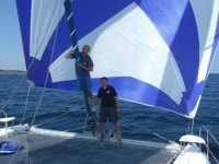Charter in sailing boat