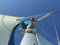 Descending from sail