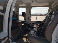 Confortevole interno dell' elicottero