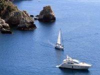 In the wonderful sea of Taormina