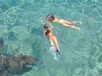 Un po 'di snorkeling during the gita