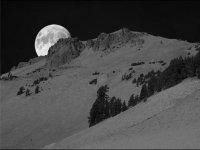 Night-time snowshoeing