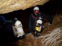Cave descent