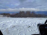 Volando sulla neve