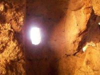 La luce che illumina la grotta