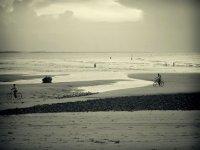 Pedalando in spiaggia