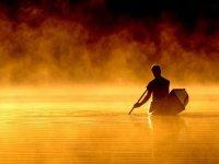 Sul lago in canoa